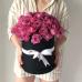 25 кустовых роз Мисти Баблз в черной коробке