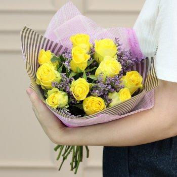 Букет из 11 желтых роз (50 см)