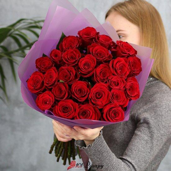 Букет из 25 красных роз Эквадор