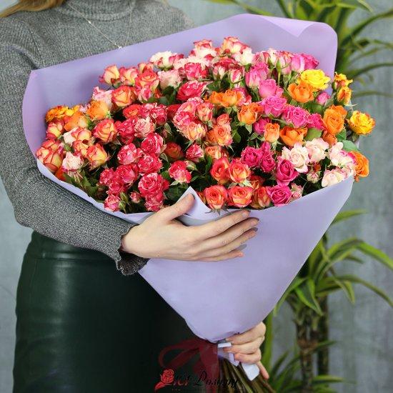 Букет из 25 кустовых роз 70 см Кения