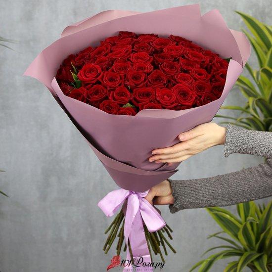 Букет из 51 розы Ред Наоми 70 см