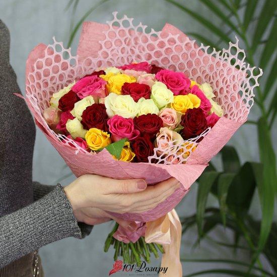 Букет из 51 розы микс 50 см
