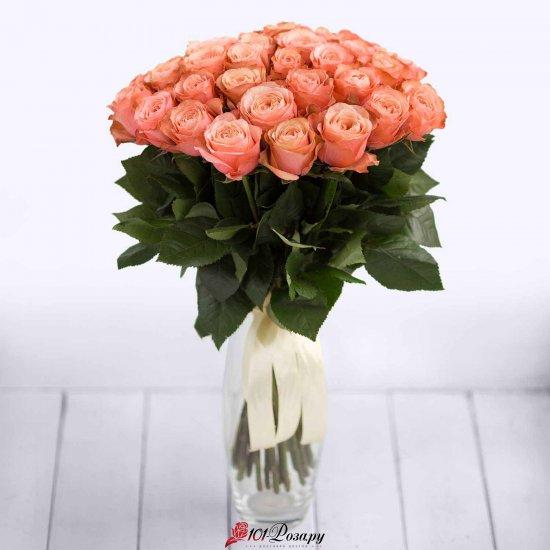 Букет 51 кремовой розы Россия - (50 см)