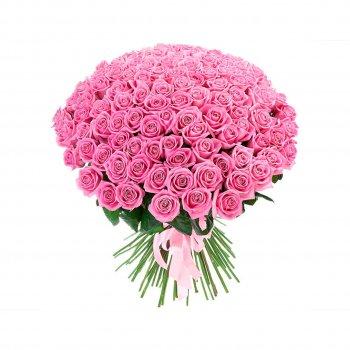 101 розовая роза (70 см)