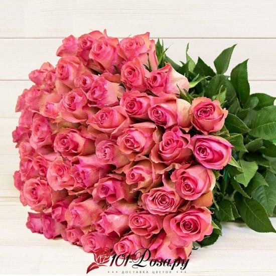 Букет из 25 розовых роз из Эквадора (50 см)