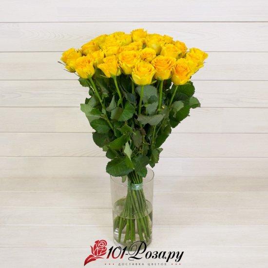 Букет из 25 желтых роз (70 см)