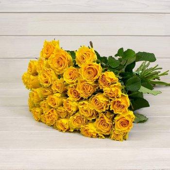Букет из 25 желтых роз (50 см)