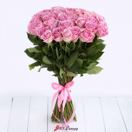 Букет 51 розовой розы Россия - (50 см)