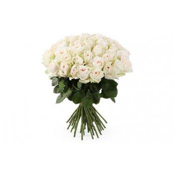 """Букет из 25 пионовидных роз Вайт О'Хара """"Цветочный сюрприз"""""""
