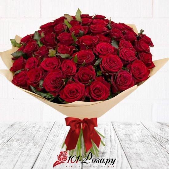 Букет из 51 красной розы Рэд Наоми (50 см)