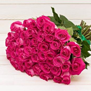 Букет из 51 цикламеновых роз Эквадор (50 см)