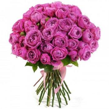 """Букет из 25 пионовидных роз """"Для самой красивой"""""""