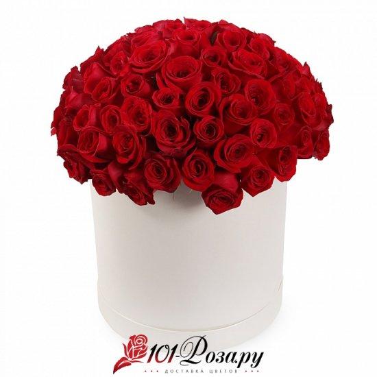 Букет из 35 красных роз в коробке (Maxi)
