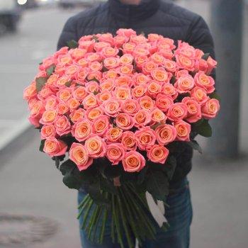 101 персиковая роза (70 см)