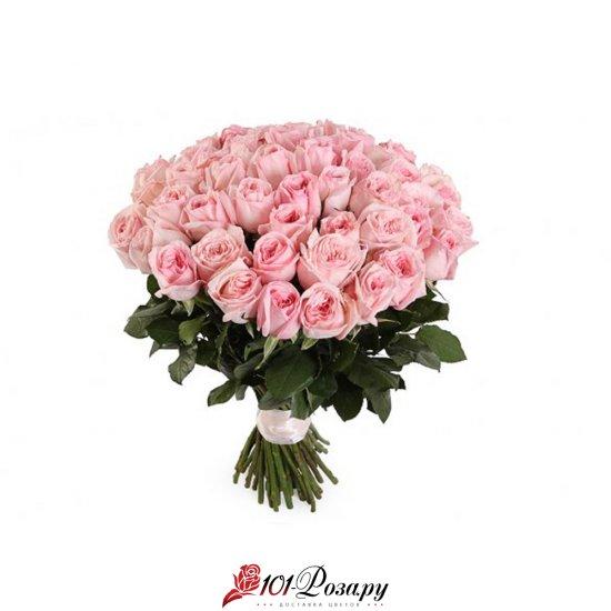 """Букет из 25 роз Вайт О'Хара """"Розовое настроение"""""""