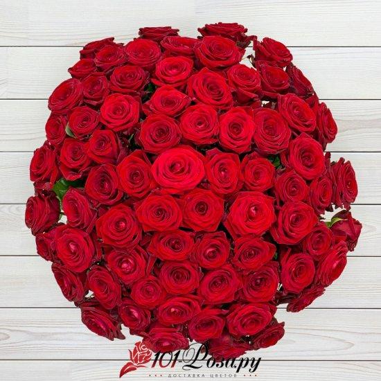 Букет из 51 красной розы Рэд Наоми (70 см)